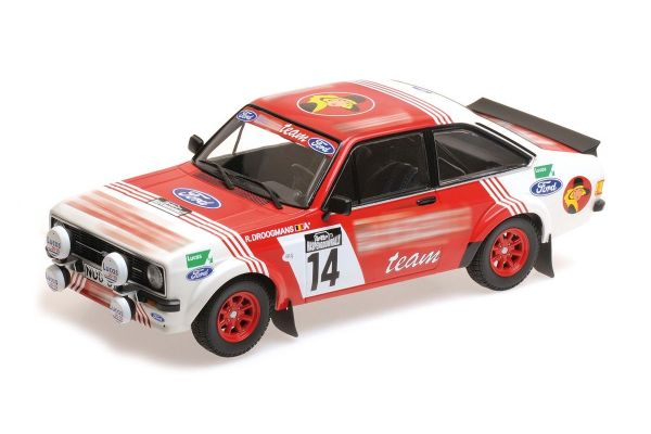 MINICHAMPS 1/18scale FORD RS 1800 – DROOGMANS/JOOSTEN – 3RD PLACE LOTTO HASPENGOUWRALLY 1983  [No.155838714]