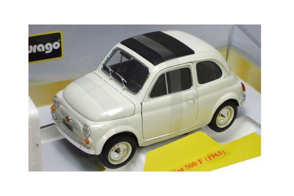 Bburago 1/18scale FIAT 500 F (1965) White [No.18-12020W]
