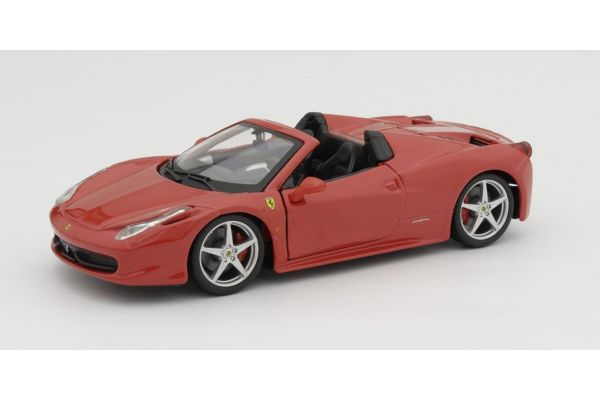 Bburago 1/24scale Ferrari 458 Spider (Red)  [No.18-26017R]