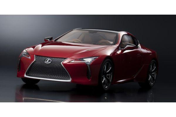 SAMURAI 1/18scale Lexus LC 500 Radiant Red Contrast Layering [No.KSR18024R]