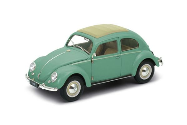 WELLY 1/18scale VW Classic Beetle (Green)  [No.WE18040GR]