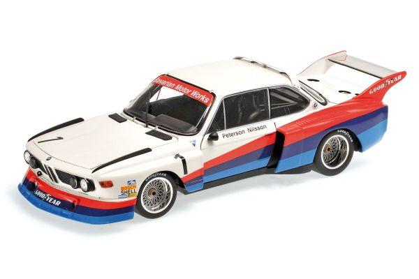 MINICHAMPS 1/18scale BMW 3.5 CSL – PETERSON/NILSSON – 6H SILVERSTONE 1976  [No.180762001]