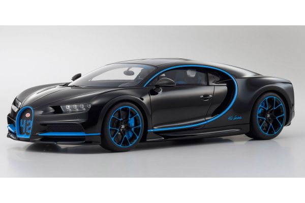 KYOSHO ORIGINAL 1/12scale Bugatti Chiron 42 Edition (Black / Blue) World limited 300 units  [No.KSR08664BK]