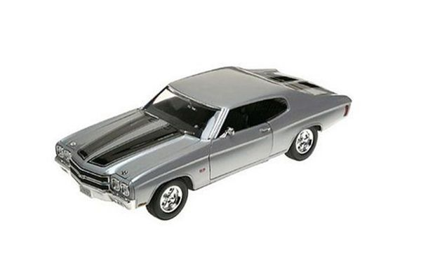 WELLY 1/18scale 1970 CHEVROLET CHEVELLE SS 454 SILVER [No.WE19855S]