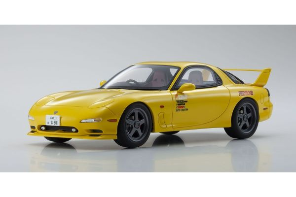 KYOSHO ORIGINAL 1/18scale Initial D Mazda RX-7 FD3S Yellow  [No.KSR18D02]