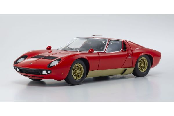 KYOSHO ORIGINAL 1/18scale Lamborghini Miura P400S (Red / Gold)  [No.KS08316R]