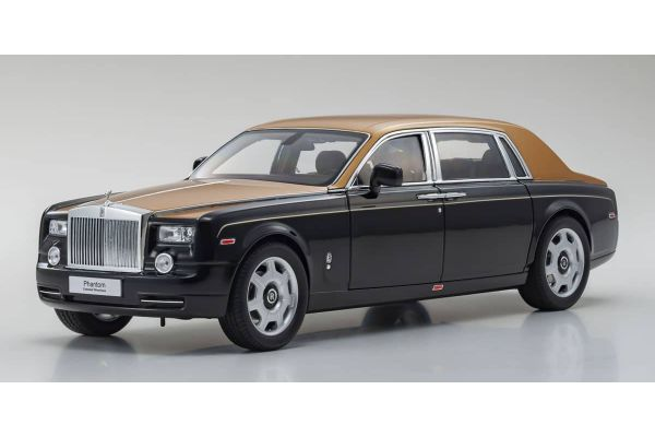 KYOSHO ORIGINAL 1/18scale Rolls-Royce Phantom EWB (Diamond Black/Gold)  [No.KS08841BKG]