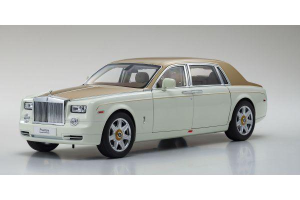 KYOSHO ORIGINAL 1/18scale Rolls-Royce Phantom EWB (English White/Gold)  [No.KS08841EWG]