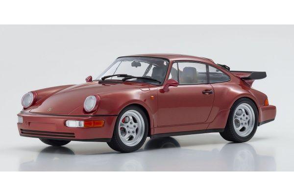 MINICHAMPS 1/18scale PORSCHE 911 TURBO (964) – 1990 – RED METALLIC  [No.155069102]
