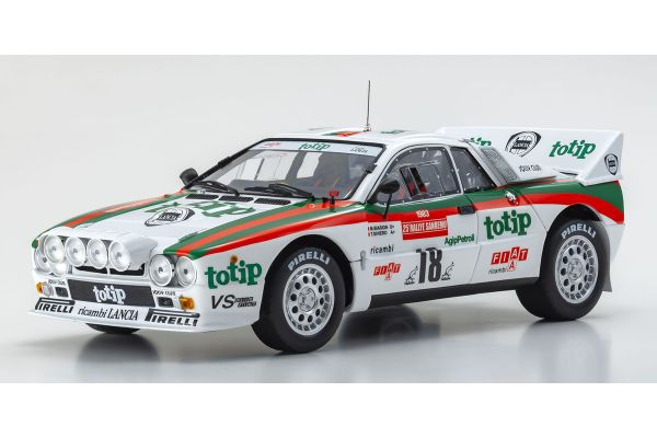 KYOSHO ORIGINAL 1/18scale Lancia Rally 037 1983 Sanremo # 18 (clear coat finish)  [No.KS08306B]