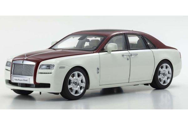 KYOSHO ORIGINAL 1/18scale Rolls-Royce Ghost (White / Red)  [No.KS08802EWR]