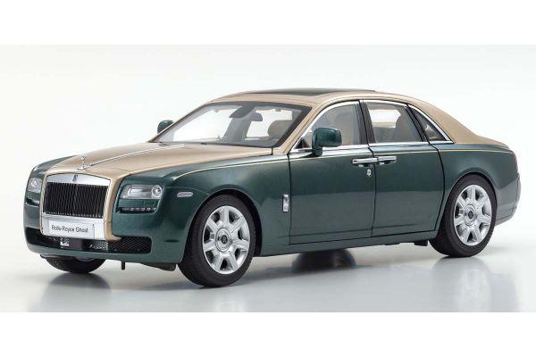 KYOSHO ORIGINAL 1/18scale Rolls-Royce Ghost (Brooklands Green / Gold)  [No.KS08802GRG]