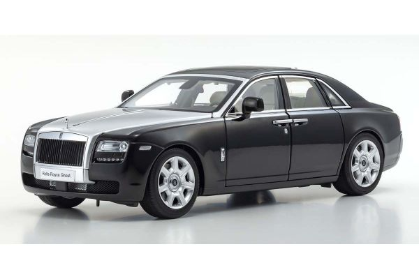 KYOSHO ORIGINAL 1/18scale Rolls-Royce Ghost (Black / Silver)  [No.KS08802BKS]