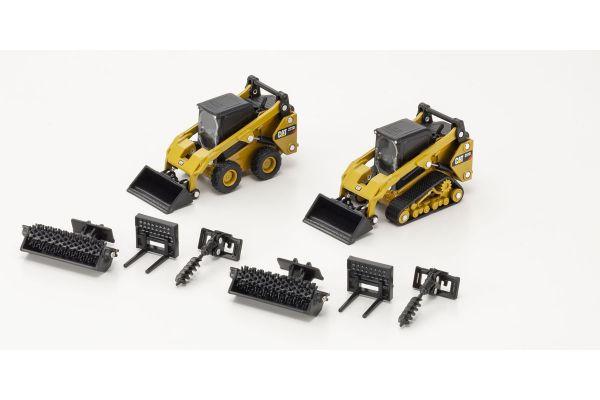 DIECAST MASTERS 1/64scale Cat 272D2 Skid Steer Loader & Cat 272D2 Compact Track Loader  [No.DM85609]