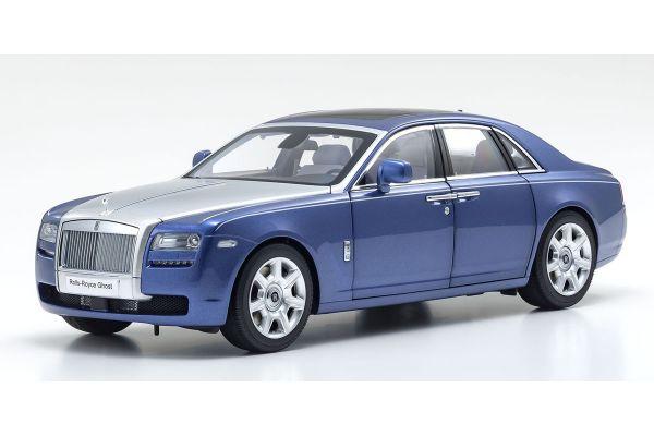 KYOSHO ORIGINAL 1/18scale Rolls-Royce Ghost (Metropolitan Blue / Silver)  [No.KS08802MBS]
