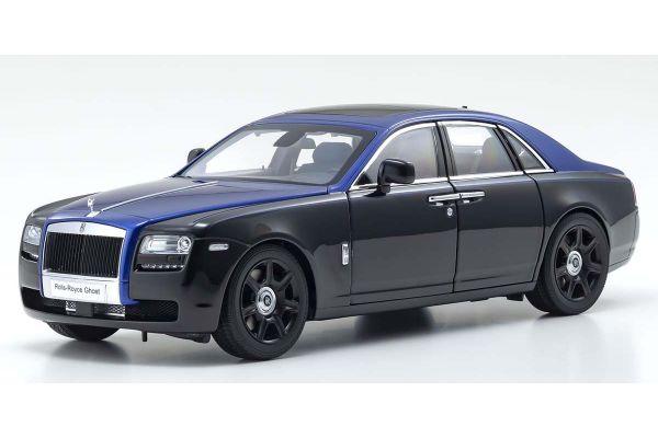 KYOSHO ORIGINAL 1/18scale Rolls-Royce Ghost (Black / Blue)  [No.KS08802BKB]