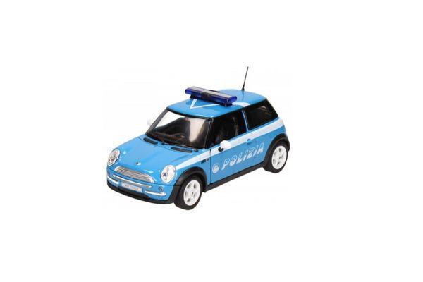 WELLY 1/24scale Mini Cooper Police car (POLIZIA) Light Blue/White [No.WE22075PC]