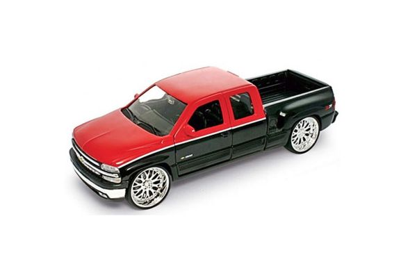 WELLY 1/24scale 1999 Chevrolet Silverado EXTENDED cab sports side box lowrider Red [No.WE22076LR]
