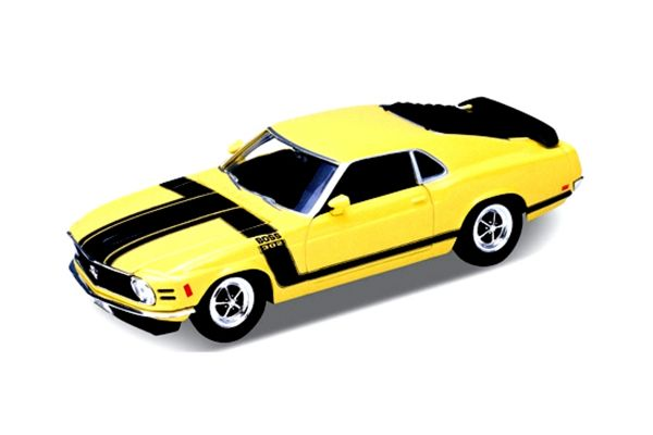 WELLY 1/24scale 1970 Ford Mustang Boss 302 (Yellow)  [No.WE22088Y]