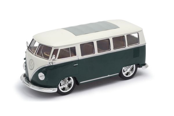 WELLY 1/24scale 1963 VW classic bus LOW RIDER  Green   [No.WE22095LGR]