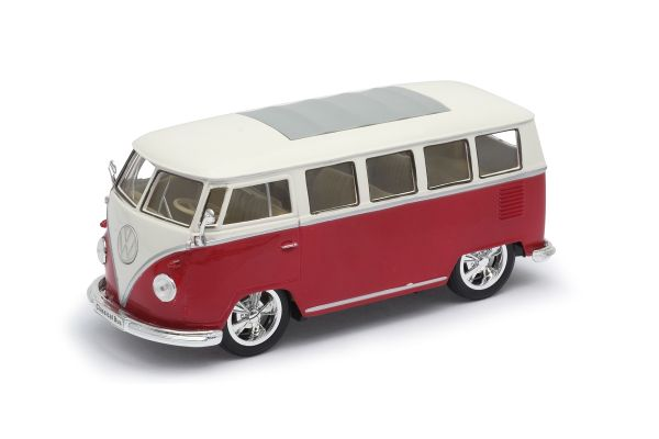 WELLY 1/24scale 1963 VW classic bus LOW RIDER  Red   [No.WE22095LR]