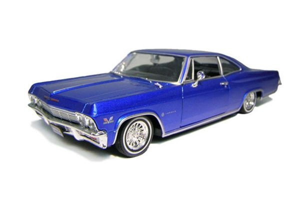 WELLY 1/24scale Chevrolet Impala SS 396 1965 Low Rider Blue [No.WE22417LB]