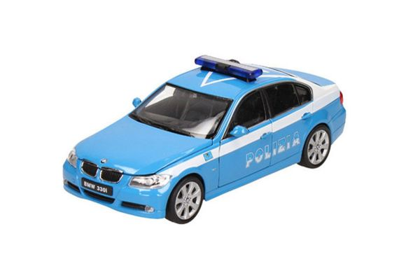 WELLY 1/24scale BMW 330I Police car (POLIZIA) Light Blue/White [No.WE22465PC]
