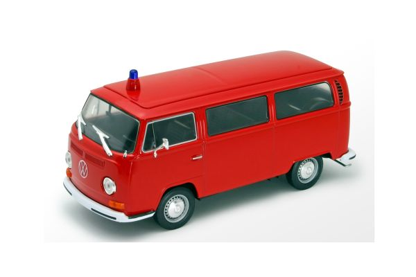 WELLY 1/24scale VW bus T2 1972 fire Red [No.WE22472FR]