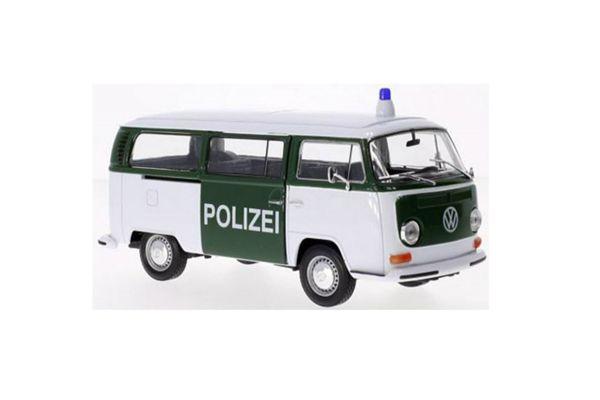 WELLY 1/24scale 1972 VW bus T2 patrol car  POLIZEI  Green / White  [No.WE22472PC]