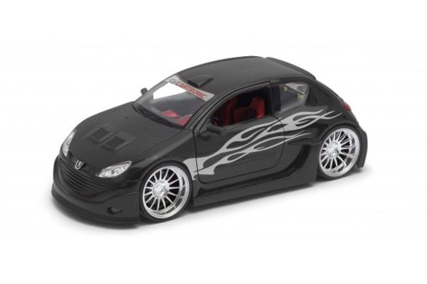 WELLY 1/24scale Peugeot 206 tuning Matte Black  [No.WE22486MBK]