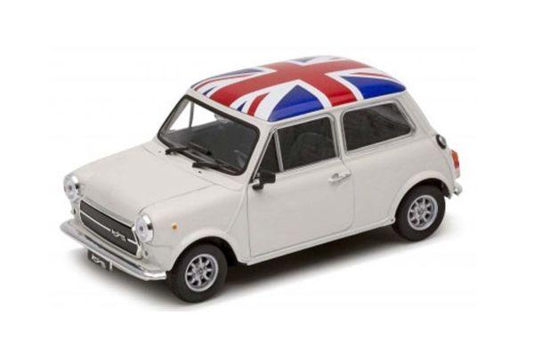 WELLY 1/24scale Mini Cooper 1300 (Ivory / Union Jack)  [No.WE22496UK]
