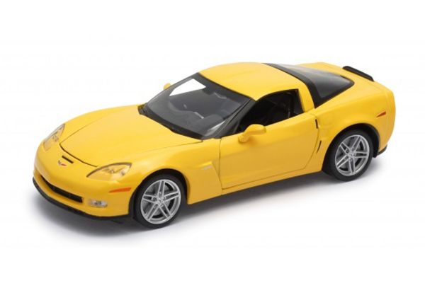 WELLY 1/24scale Chevrolet Corvette Z06 2007 Yellow  [No.WE22504Y]