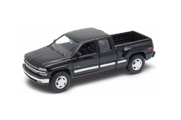 WELLY 1/24scale 1999 Chevrolet Silverado EXTENDED CAB SPORTSIDE BOX Black  [No.WE22706BK]