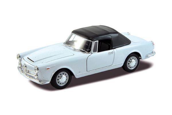 WELLY 1/24scale Alfa Romeo Spider 2600 soft-top 1960 White  [No.WE24003STW]
