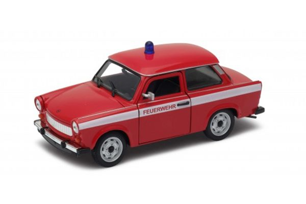 WELLY 1/24scale Trabant 601 Fire (FEUERWEHR) Red [No.WE24037FR]