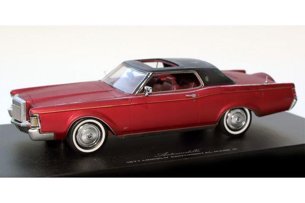 Automodello 1/24scale リンカーン コンチネンタル マークIII 1971 レッド ナンバー入り  [No.AM24LIN-R]