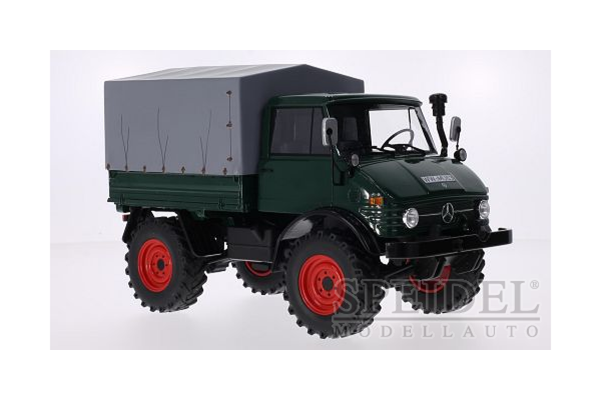Premium ClassiXXs 1/18scale Mercedes Unimog 406 pickup truck (Deep Green)  [No.PCS30007]