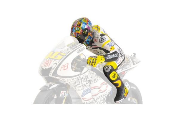 MINICHAMPS 1/12scale FIGURINE – VALENTINO ROSSI – (SET WITH STAND #1 WIDE) LAGUNA SECA MOTOGP 2010  [No.312100146]