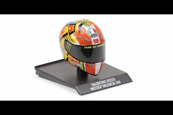 MINICHAMPS 1/10scale AGV Helmet Valentino Rossi MotoGP Valencia 2011  [No.315110066]