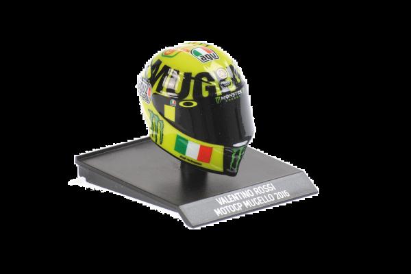 MINICHAMPS 1/10scale AGV Helmet Valentino Rossi Moto GP Mugello 2016  [No.315160086]
