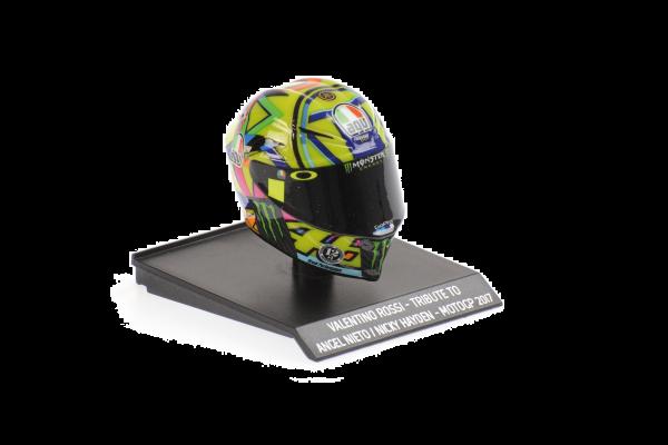 MINICHAMPS 1/10scale AGV Helmet Valentino Rossi Tribute Angel Nieto / Nicky Hayden Moto GP 2017  [No.315170056]