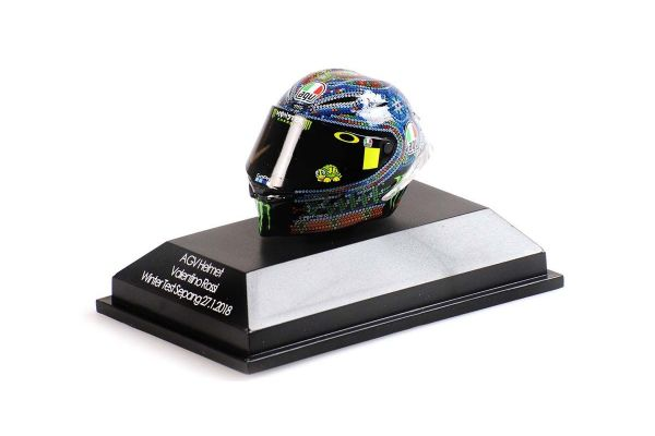 MINICHAMPS 1/8scale AGV Helmet Valentino Rossi Wintertest Sepang January 27, 2018  [No.399180076]