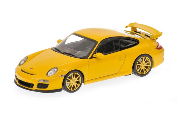 MINICHAMPS 1/43scale PORSCHE 911 GT3 (997 II) – 2009 – YELLOW W/YELLOW WHEELS  [No.400068022]