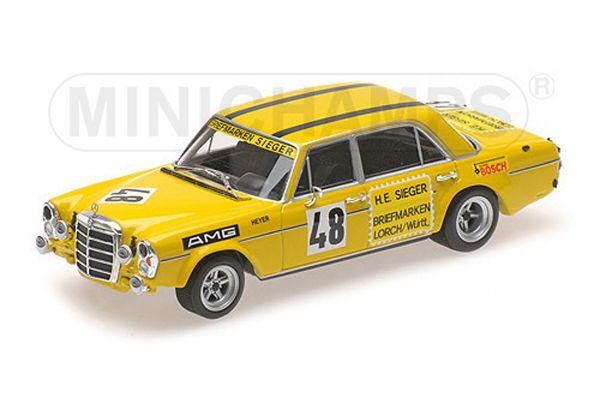 MINICHAMPS 1/43scale MERCEDES-BENZ 300 SEL 6.8 AMG – HANS HEYER – TEST DRIVE LE MANS 1972  [No.400723448]