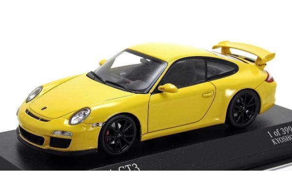 MINICHAMPS 1/43scale Porsche 911 GT3 997 II 2009 Yellow / Black Wheel [No.403068026]