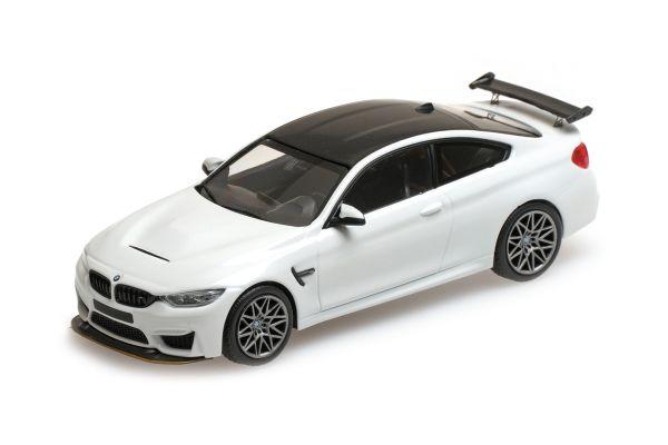 MINICHAMPS 1/43scale BMW M4 GTS – 2016 – WHITE W/ GREY WHEELS  [No.410025221]