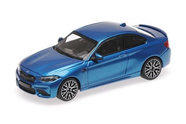 MINICHAMPS 1/43scale BMW M2 COMPETITION – 2019 – BLUE METALLIC  [No.410026202]