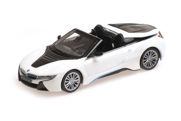 MINICHAMPS 1/43scale BMW I8 ROADSTER (I15) – 2017 – WHITE METALLIC  [No.410027031]