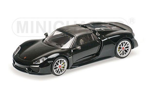 MINICHAMPS 1/43scale PORSCHE 918 SPYDER – WEISSACH PACKAGE – MATT BLACK – 2015  [No.410062136]