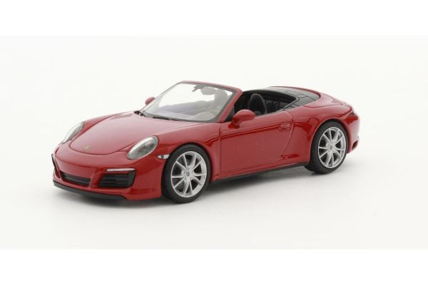 MINICHAMPS 1/43scale PORSCHE 911 (991.2) CARRERA 4S CABRIOLET – 2017 – RED  [No.410067230]